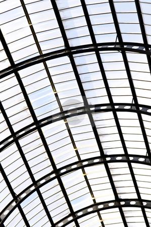 Hay's Galleria roof stock photo, Interior view of Hay's Galleria glass roof by Elena Elisseeva