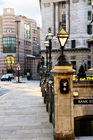 Bank station entrance in London stock photo, Entrance to Bank tube station in London by Elena Elisseeva