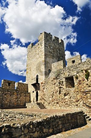 Kalemegdan fortress in Belgrade stock photo, Walls and towers of Kalemegdan fortress in Belgrade Serbia by Elena Elisseeva