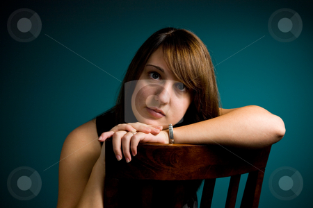 Teen Girl Portrait stock photo, A portrait of an attractive young teen girl. by Travis Manley