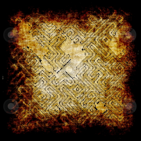 Adventure Map stock photo, Ancient Adventure Scroll Map with Hidden Treasure by Kheng Ho Toh