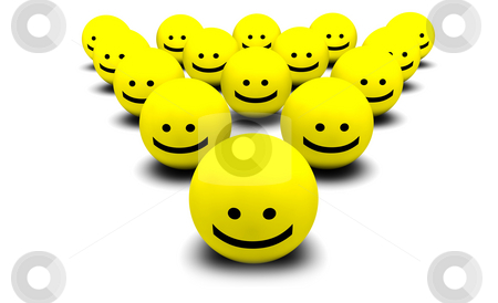 Shiny Happy People stock photo, Shiny Happy People Smiling Faces in 3d by Kheng Ho Toh