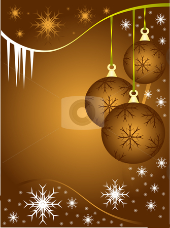 Abstract gold christmas baubles background stock vector clipart, Abstract gold christmas baubles background by Mike Price