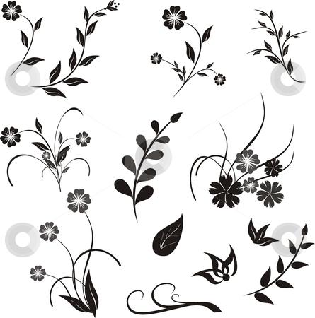 Design ellement stock vector clipart, Floral design elements for decoration by Rimantas Abromas