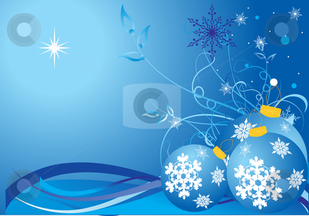 Christmas winter background stock vector clipart, Christmas winter background, vector illustration by Rimantas Abromas
