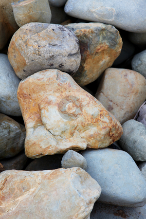 Rocks stock photo, Texture of large rocks, brown and gray abstract background by Giuseppe Ramos