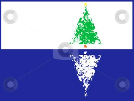 Christmas Tree Reflection stock vector clipart, Christmas tree with a pale ice like reflection. by Jeffrey Thompson
