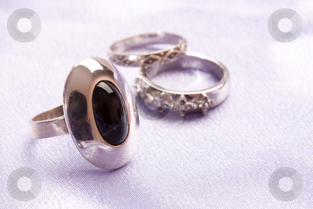 Ring stock photo, Fashion series: black ston in the ring, female accessories by Gennady Kravetsky