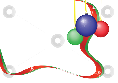 Baubles and Ribbon stock vector clipart, Baubles and Ribbon Illustration by John Teeter