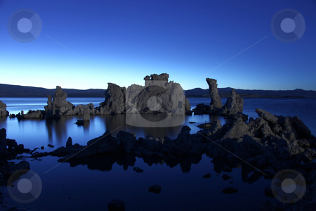Tufa Rock Formations in Mono Lake Califonia stock photo, Surreal Tufa Rock Formations in Mono Lake Califonia by Katrina Brown