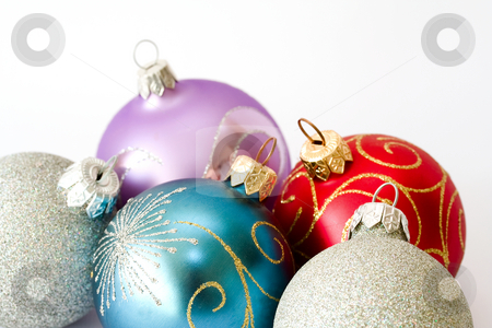 Christmas balls stock photo, Christmas balls. Shallow depth of field by Sergey Plakhotin