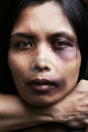 Woman being chocked and hurt stock photo, Woman being chocked and hurt, concept for domestic violence by Rudyanto Wijaya