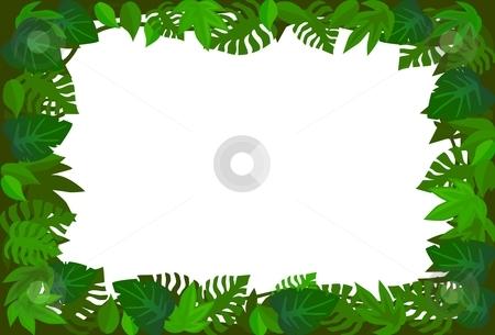 Forest frame stock vector clipart, Green leaf frame by Surya Zaidan