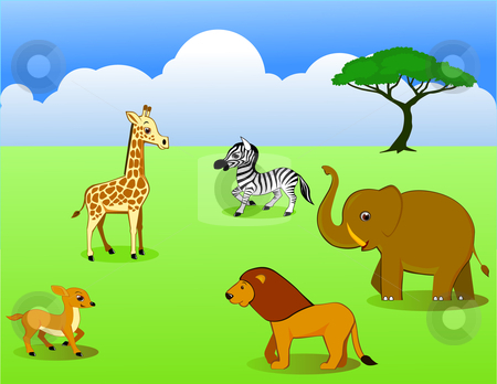 Wild life animal cartoon stock vector clipart, Wild life animal cartoon by Surya Zaidan