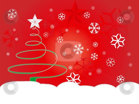 XMas_1 stock vector clipart, Christmas winter background by Germán Ariel Berra