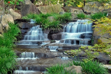 Japanese rock garden waterfall gallery for Zen garden waterfall