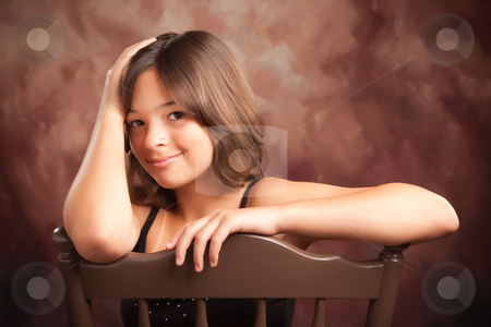 Pretty Hispanic Girl Portrait stock photo, Pretty Hispanic Girl Studio Portrait by Andy Dean