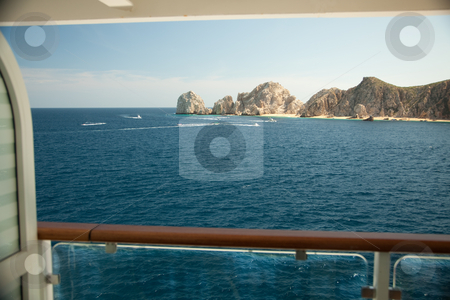 Balcony View on Cruise Ship, Mexico stock photo, Balcony View on Cruise Ship at Land's End, Cabo San Lucas,  Mexico. by Andy Dean