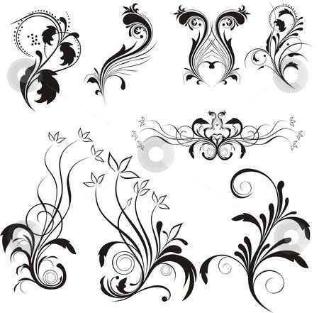 Floral design stock vector clipart, Floral design ellements by Rimantas Abromas
