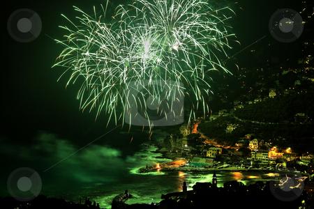 Firework HDR stock photo, Fireworks in recco during 8 september celebration by ANTONIO SCARPI