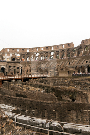 Coliseum Interior stock photo, The historic Roman coliseum located in Rome (Roma) Italy by Kevin Tietz