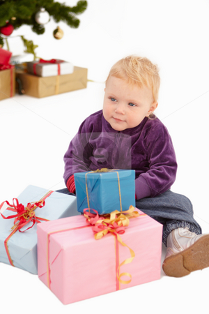 Christmas - Look at all my presents stock photo, Christmas - Look at all my x-mas presents by Phillip Dyhr Hobbs