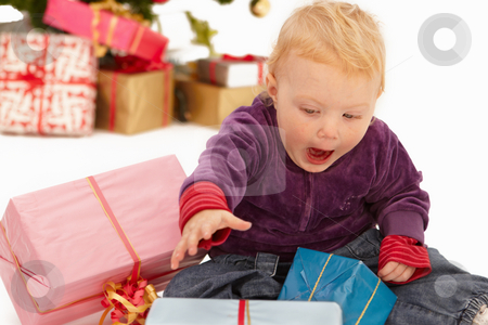 Wow  - Look at these christmas presents stock photo, Wow  - Look at these x-mas presents by Phillip Dyhr Hobbs