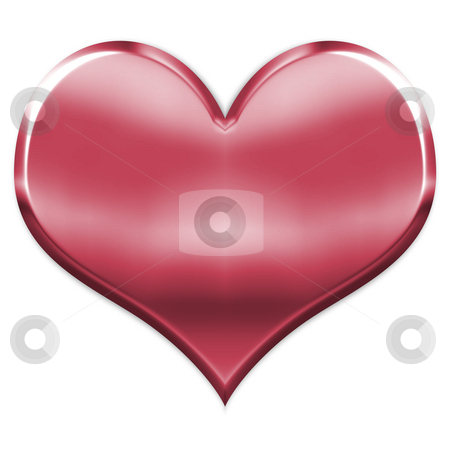3D Heart stock photo, 3d heart isolated in white by Georgios Kollidas