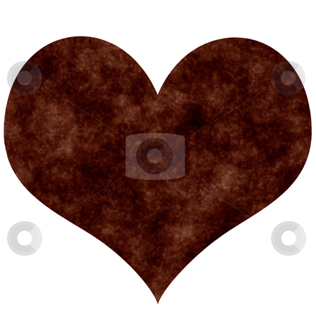 Rusty Heart stock photo, Rusty heart isolated in white by Georgios Kollidas
