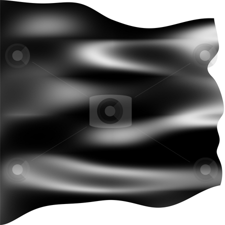 Anarchist Black Flag stock photo, Anarchist black flag isolated in white by Georgios Kollidas