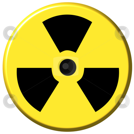 Nuclear Button stock photo, 3d nuclear button isolated in white by Georgios Kollidas