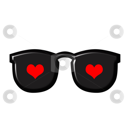 Love Reflection stock photo, Love reflection on sunglasses by Georgios Kollidas