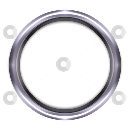 Silver Ring stock photo, 3d silver ring isolated in white by Georgios Kollidas
