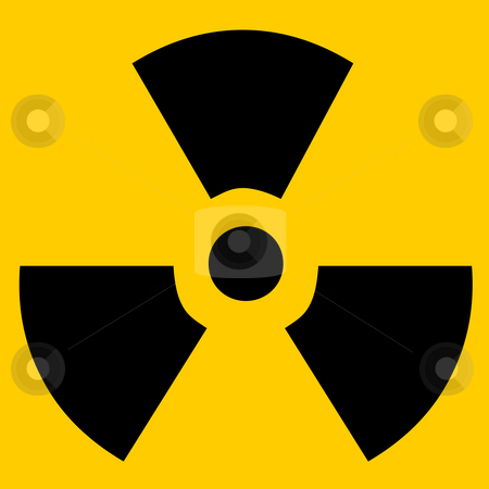 Radioactive sign stock photo, Radioactive sign isolated in yellow by Georgios Kollidas