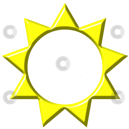 3D Sun  stock photo, 3d sun isolated in white by Georgios Kollidas