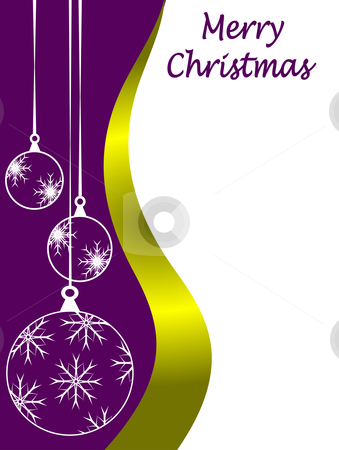An abstract Christmas card vector illustration with clear white outline baubles on a purple backdrop stock vector clipart, An abstract Christmas card vector illustration with clear white outline baubles on a purple backdrop with room for text on white space by Mike Price