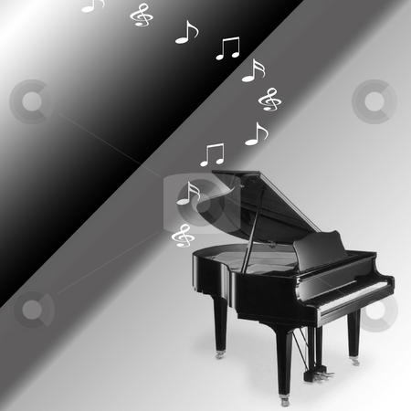 Piano Concerto stock photo, Piano Concerto playing the sounds of music by CHERYL LAFOND