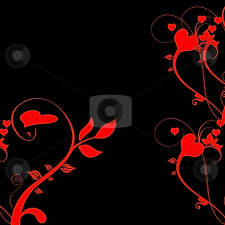 Valentine Hearts Swirl Abstract Background stock photo, Valentine Hearts Swirl Abstract Background by CHERYL LAFOND
