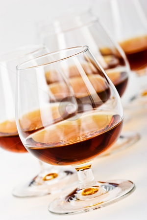 Cognac stock photo, Strong drink series: glassy  bocal with cognac by Gennady Kravetsky