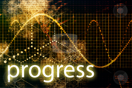 Progress stock photo, A Business Progress Abstract Futuristic Tech Background by Kheng Ho Toh