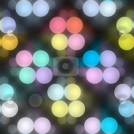 Night  lights pattern stock photo, Seamless texture of glowing colorful light dots by Wino Evertz