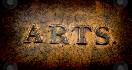 Arts stock photo, Grungy arts sign by Georgios Kollidas