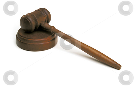 Judge's gavel on white stock photo, Gavel on white background by James Steidl