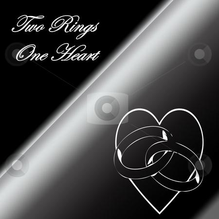 Wedding Invitation stock photo, Beautiful wedding invitation done in blacks and greys by CHERYL LAFOND