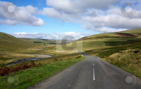Countryside road alongside the river Elan in Wales, UK. stock photo, Countryside road alongside the river Elan in Wales, UK. by Stephen Rees