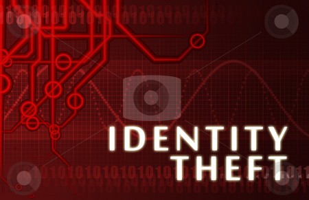 Identity Theft stock photo, Identity Theft Concept Abstract Background on Red by Kheng Ho Toh