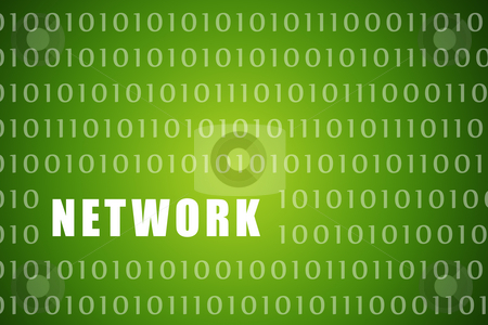 Network stock photo, Network Tech Abstract on a Digital Background by Kheng Ho Toh