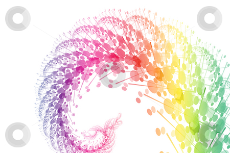 Rainbow Power Wave Abstract Background stock photo, Rainbow Power Wave Abstract on a White Background by Kheng Ho Toh