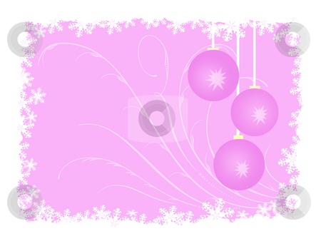 Pink christmas stock photo, Pink christmas backgorund with balls by Minka Ruskova-Stefanova