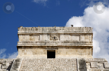 Top of chichen itza stock photo, Top of chichen itza by Chris Davidson